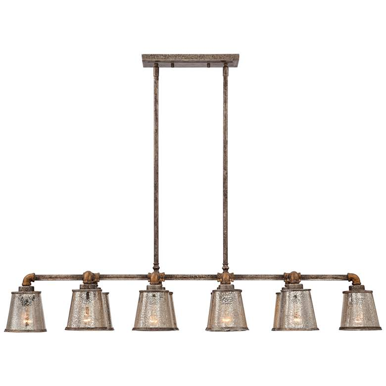 "Fillmore 47 1/2"" Wide Rust Kitchen Island Light Chandelier more views"