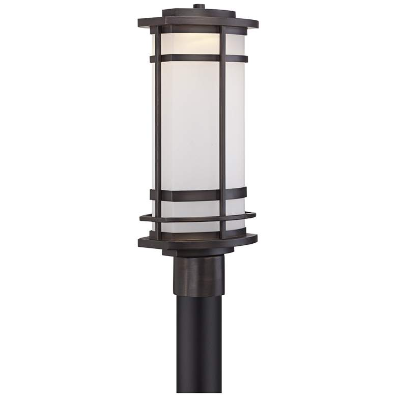 "Possini Euro Clemson 18 3/4""H Bronze LED Outdoor Post Light more views"