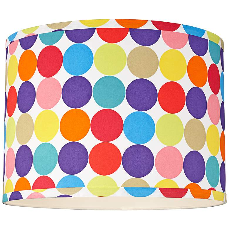 Multi-Color Circles Pattern Drum Shade 15x15x11 (Spider) more views