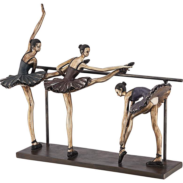 "Stretching Ballerinas 11 3/4"" High Figurine more views"