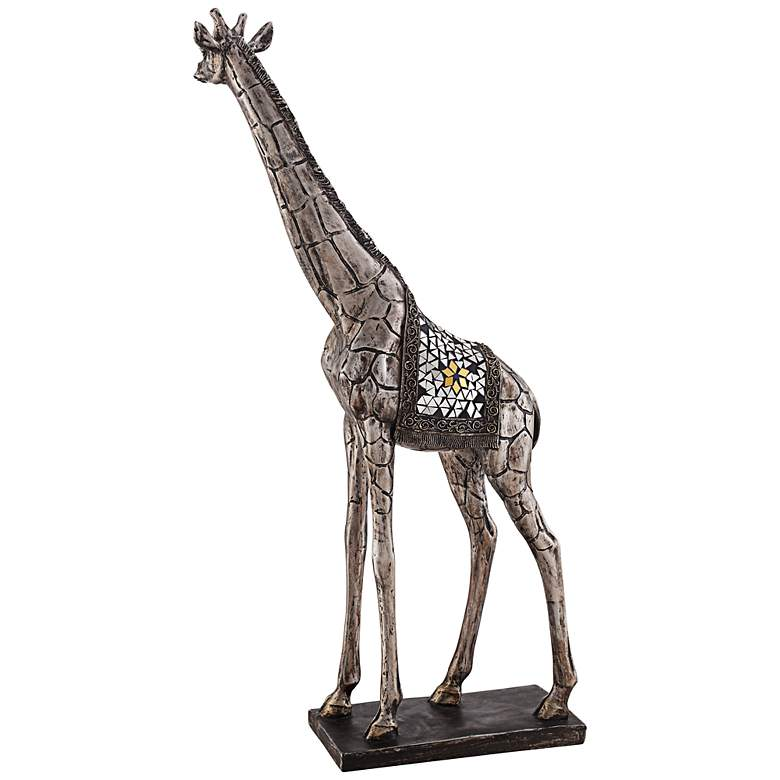 "Walking Giraffe 28 1/4"" High Statue more views"