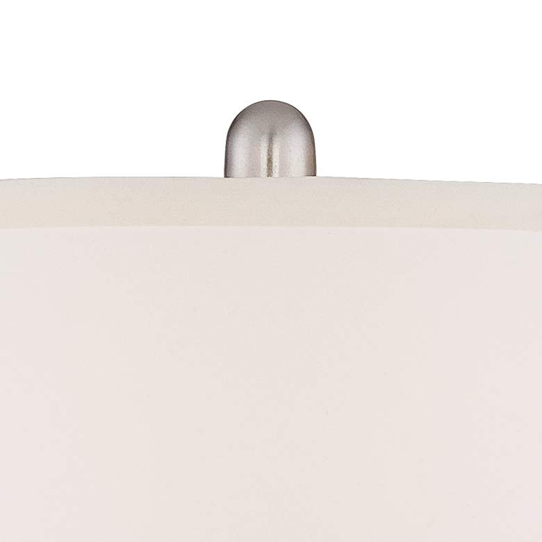 Blair Brushed Nickel Metal Table Lamp Set of 2 more views
