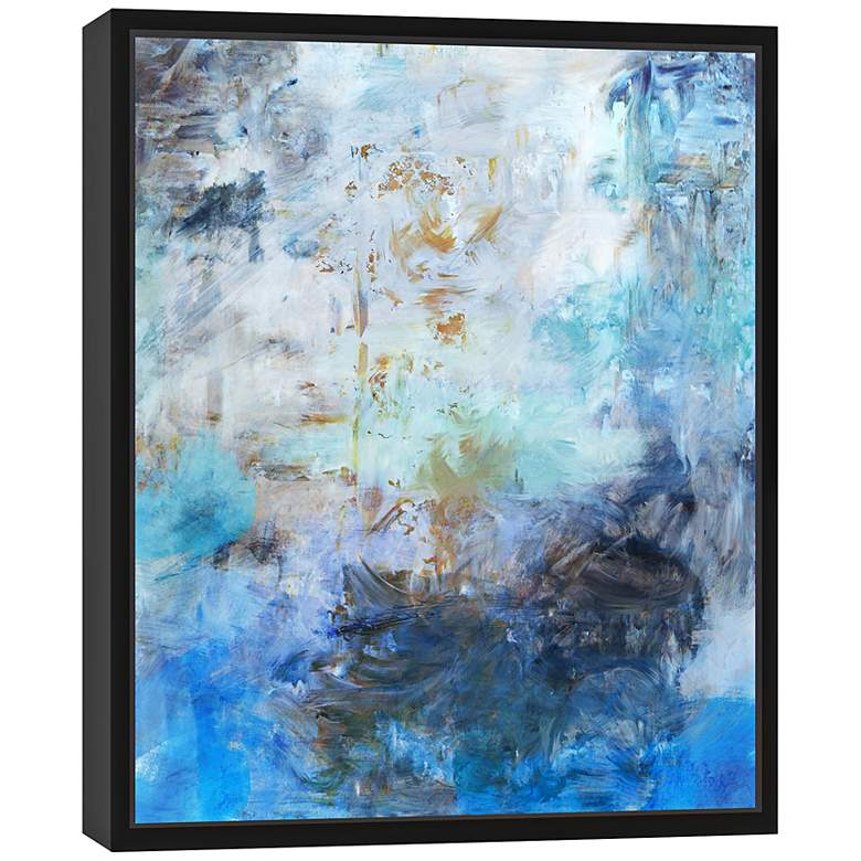 "Blue Abstraction I 25 3/4"" High Framed Canvas Wall Art more views"