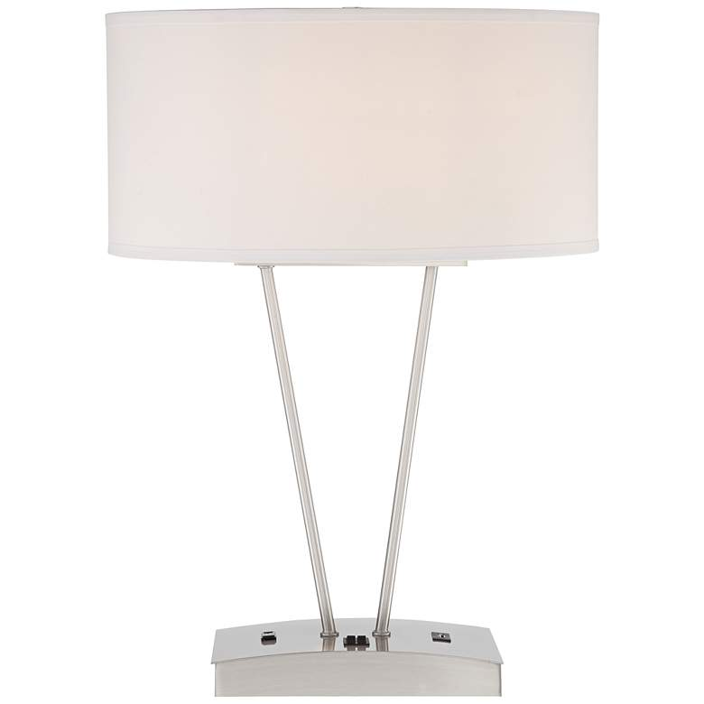 Leon Metal Table Lamp with USB Port and Utility Plug more views