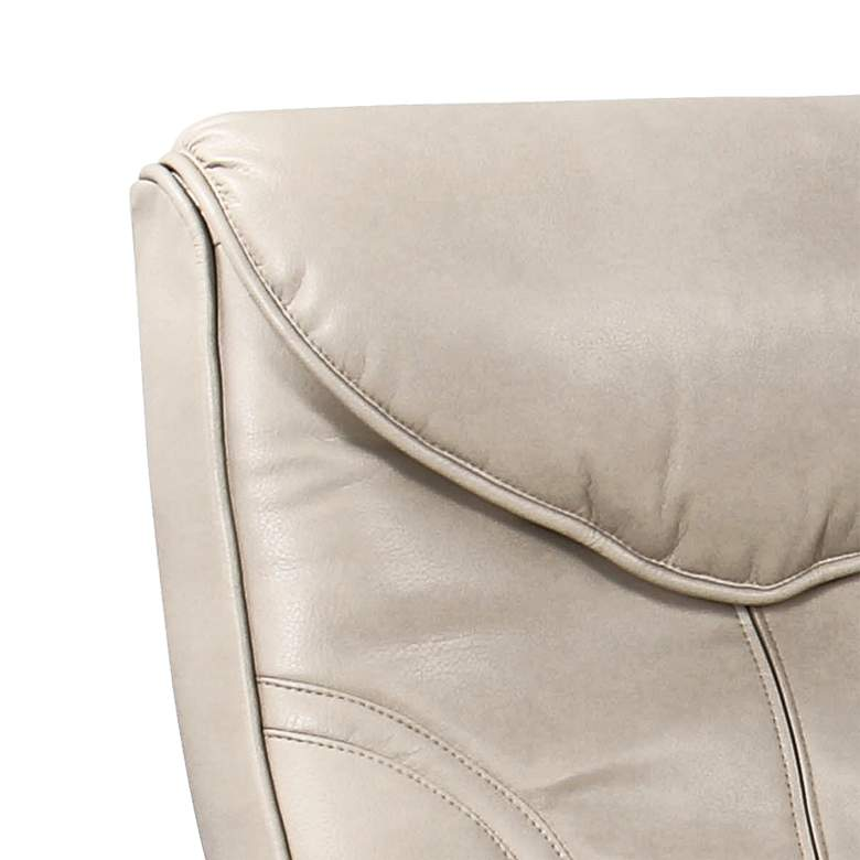 Newport Taupe Swivel Recliner and Slanted Ottoman more views