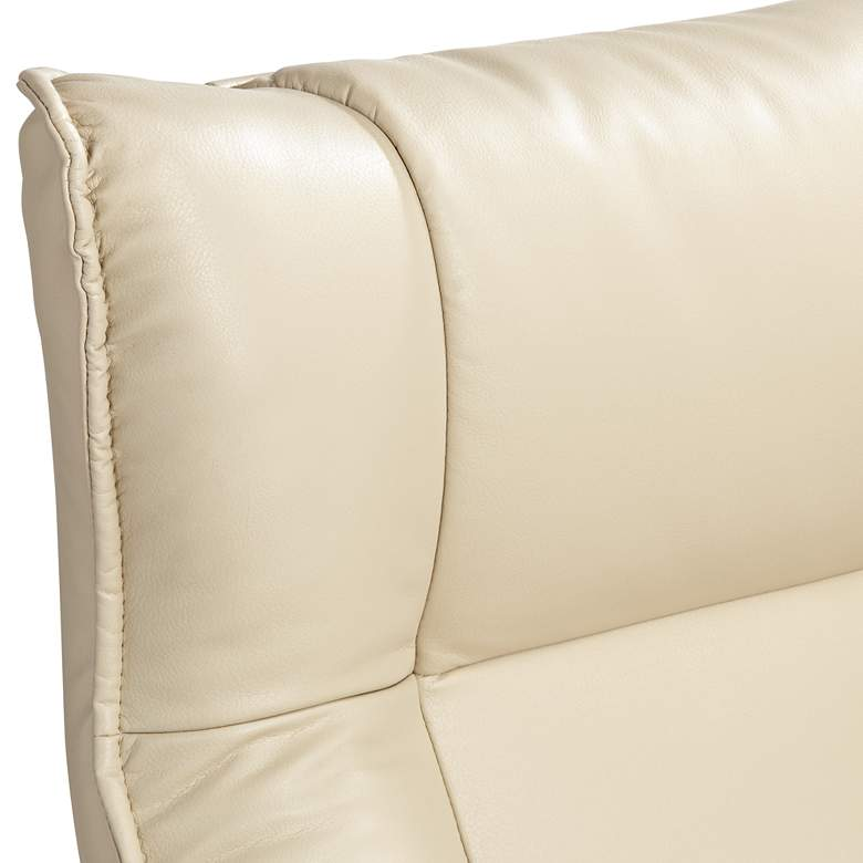 Morgan Stucco Faux Leather Ottoman and Swiveling Recliner more views
