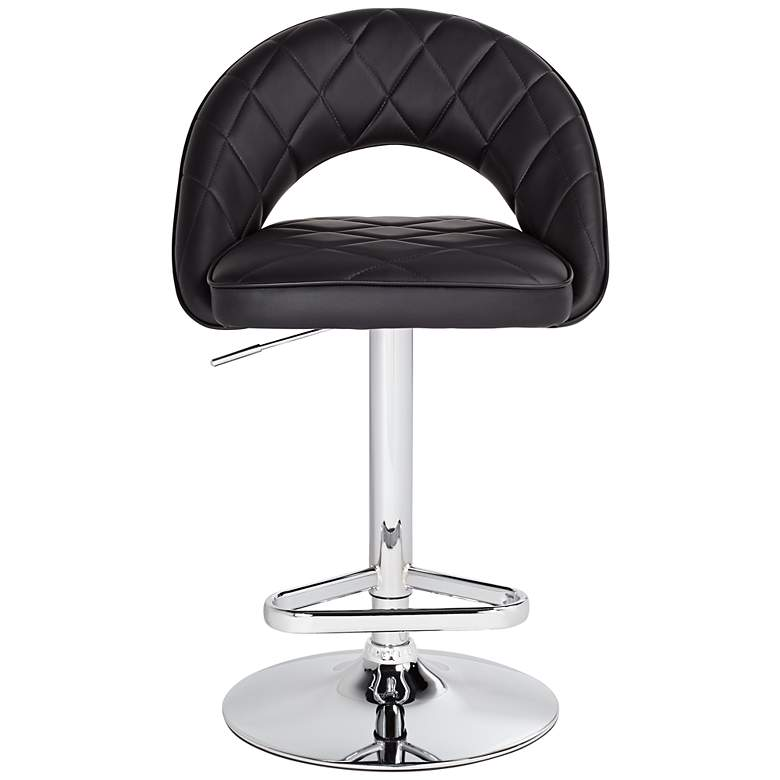 Illy Black Faux Leather Adjustable Swivel Bar Stool more views