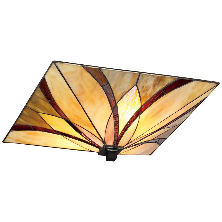 "Quoizel Asheville 15"" Wide Valiant Bronze Ceiling Light more views"