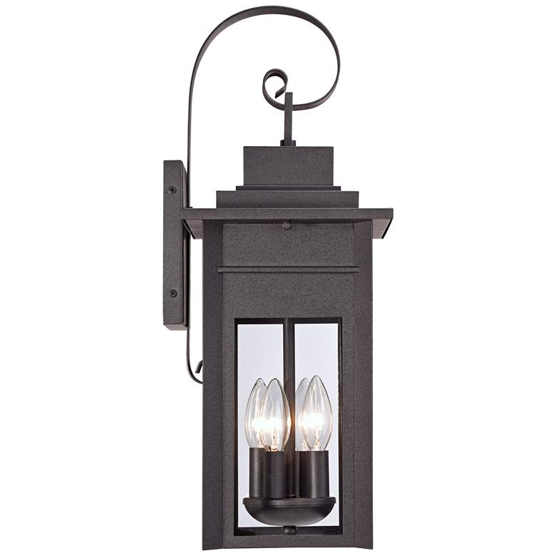 "Bransford 21"" High Black-Specked Gray Outdoor Wall Light more views"