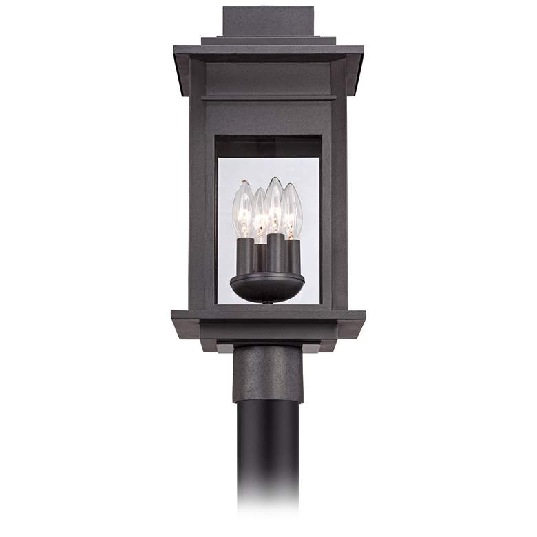 "Bransford 19 1/2""H Black-Specked Gray Outdoor Post Light more views"