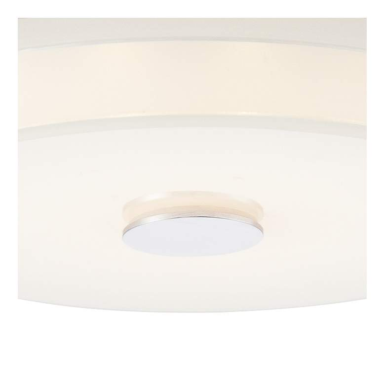 "Possini Euro Clarival 12 1/2"" Wide Chrome LED Ceiling Light more views"