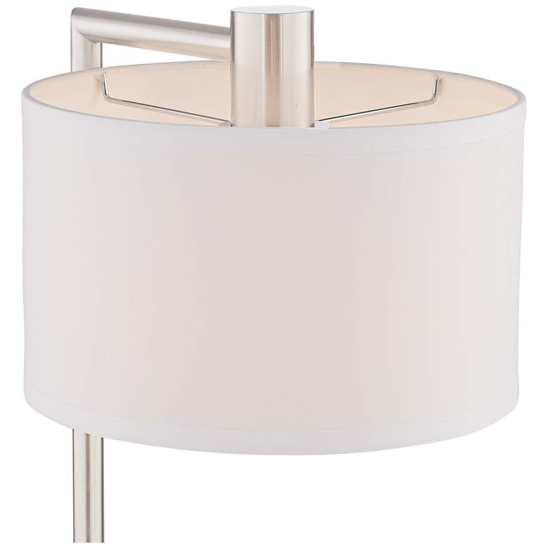 Colby Brushed Nickel Desk Lamp with Outlet and USB Port more views