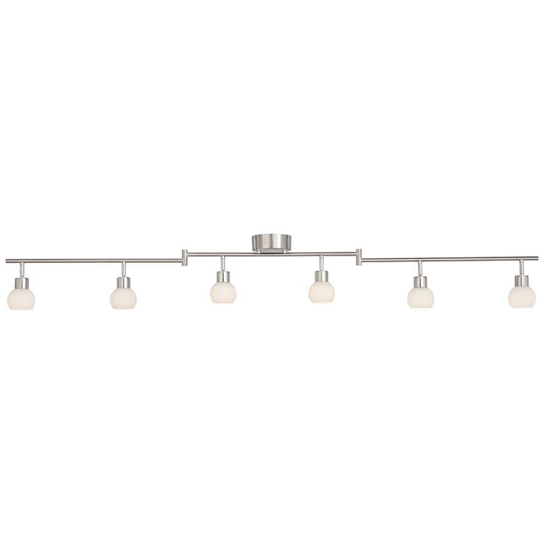 Pro Track® Globe 6-Light LED Track Kit in Satin Nickel more views