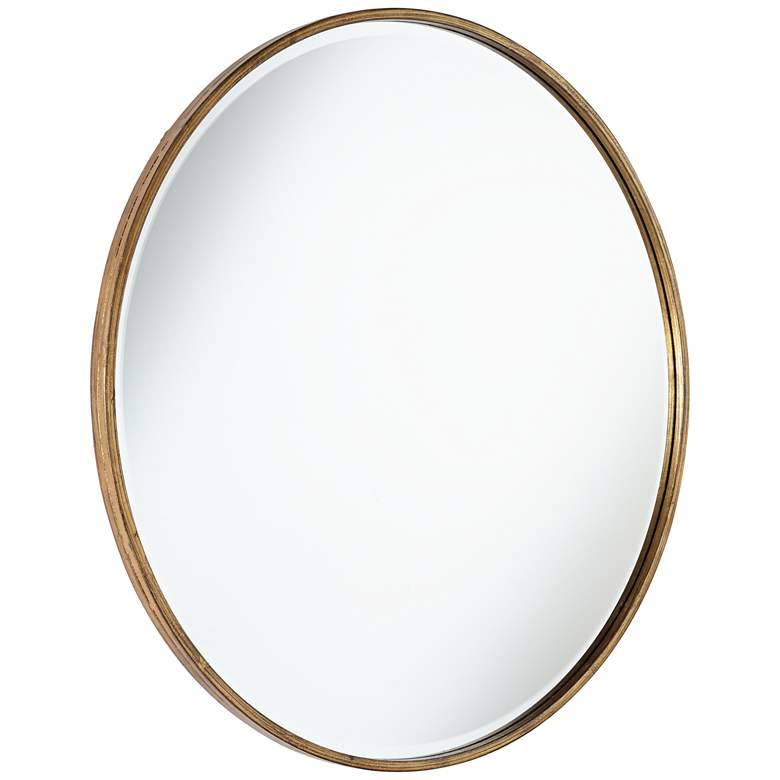 "Uttermost Mayfair Antique Gold 34"" Round Wall Mirror more views"
