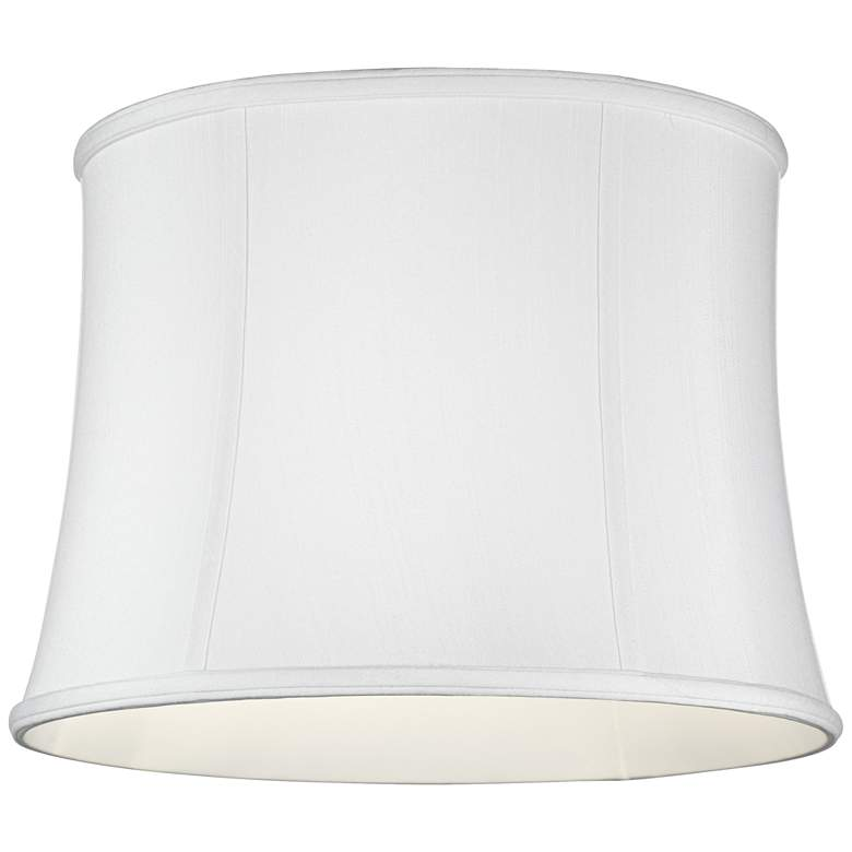 Imperial Collection White Drum Lamp Shade 14x16x12 (Spider) more views
