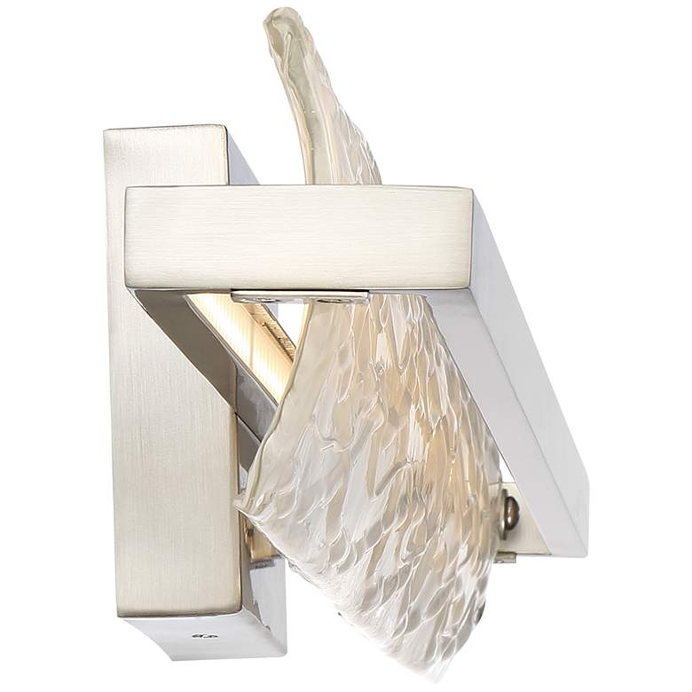 "Platinum Glacial 30"" Wide Nickel LED Bathroom Light more views"