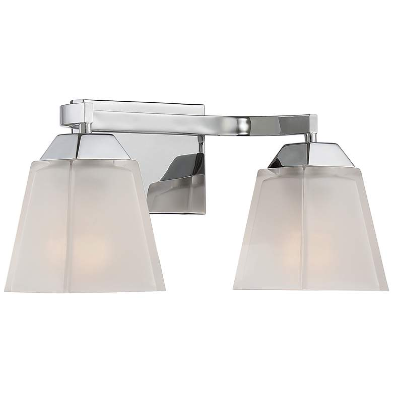 "Quoizel Loft 15"" Wide Polished Chrome Bathroom Lighting more views"