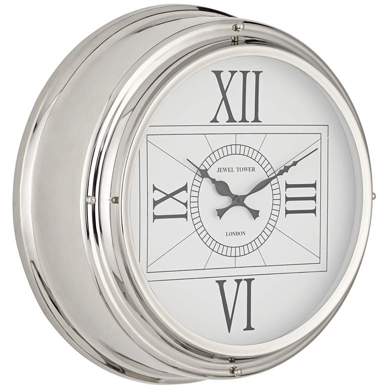 "Carnaby 18"" Round Stainless Steel Wall Clock more views"