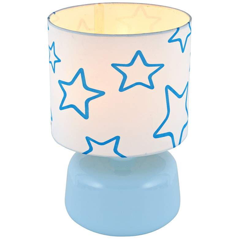 Lite Source Twinkle Light Blue Ceramic Accent Table Lamp more views