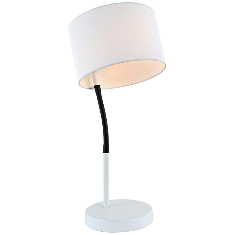 Lite Source Gillian White Metal Table Lamp more views