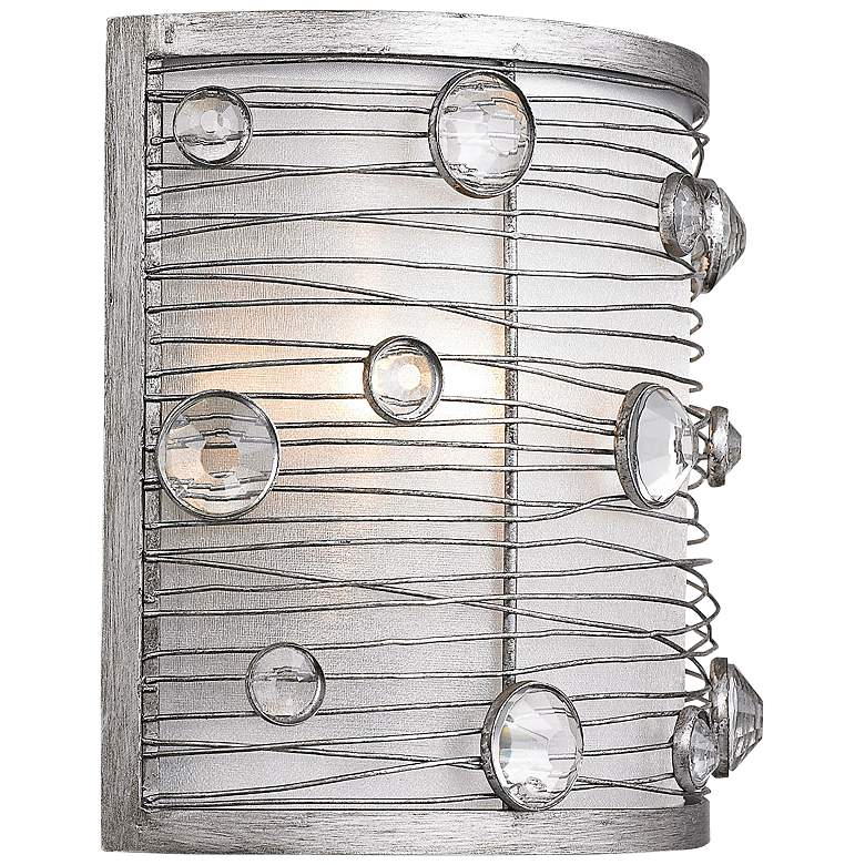 "Joia 7"" High Peruvian Silver Wall Sconce more views"