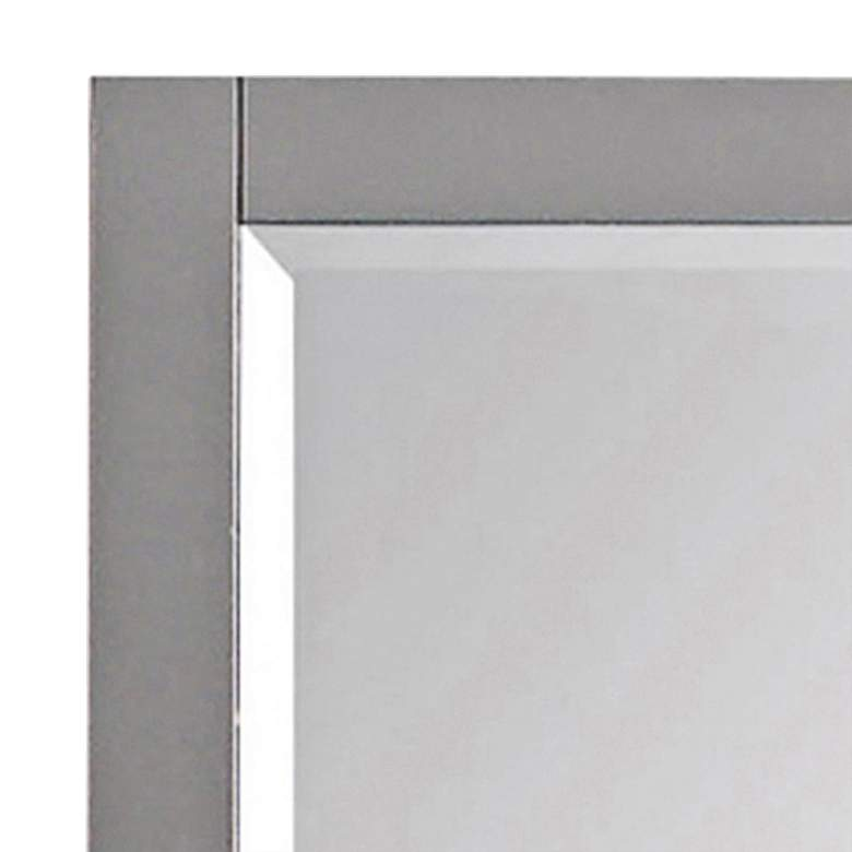 "Chilled Gray 28"" x 32"" Decorative Vanity Wall Mirror more views"