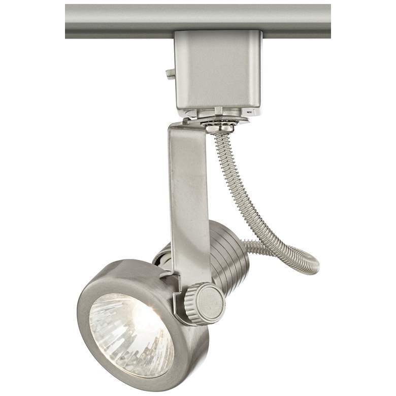 Halogen Track Head in Brushed Nickel for Lightolier Systems more views