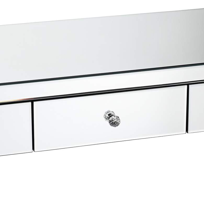 "Thea 39 1/2"" Wide 3-Drawer Mirrored Small Desk more views"