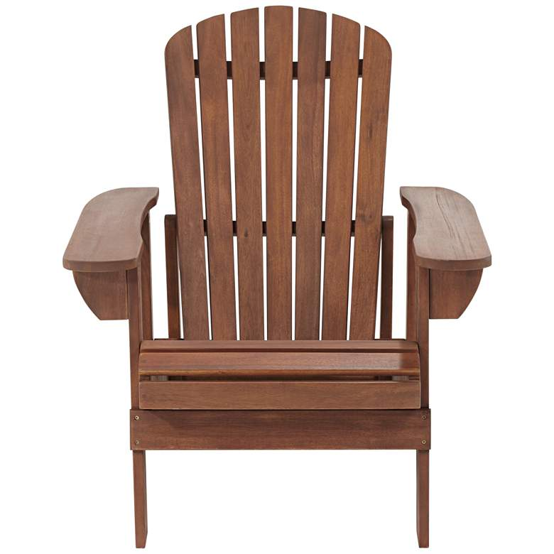 Fletcher Dark Wood Outdoor Reclining Adirondack Chair more views