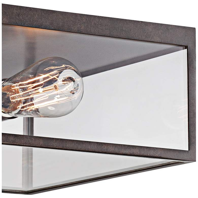 "Montesidro 12""W Bronze and Glass Outdoor Ceiling Light more views"