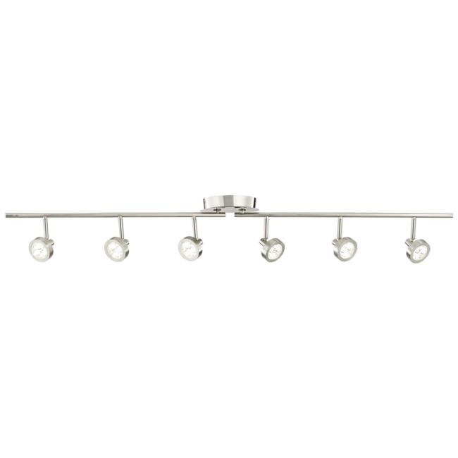 Pro Track® Tilden 6-Light Brushed Nickel LED Track Light Kit