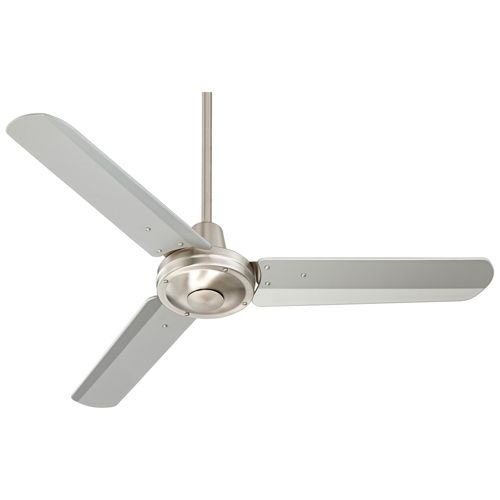 "44"" Plaza DC Brushed Nickel Damp Rated Ceiling Fan"