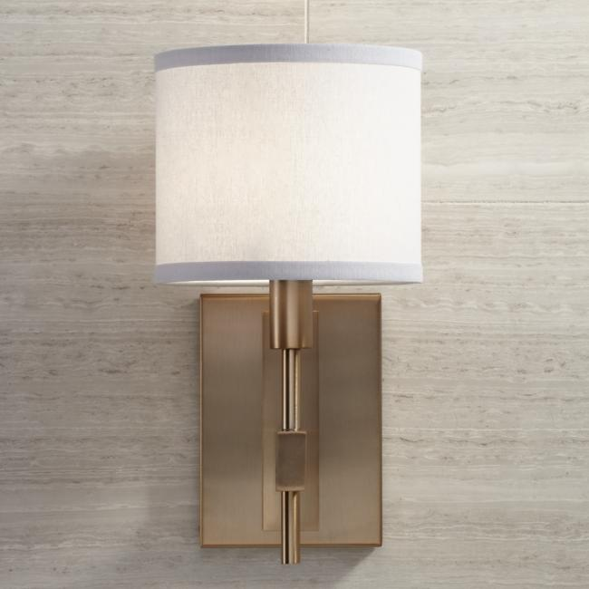 "Orson 13 1/2"" High Burnished Brass Wall Sconce"
