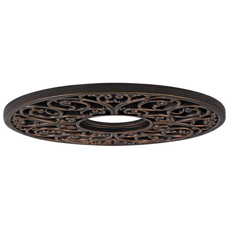 "French Scroll 16"" Wide Bronze Ceiling Medallion more views"