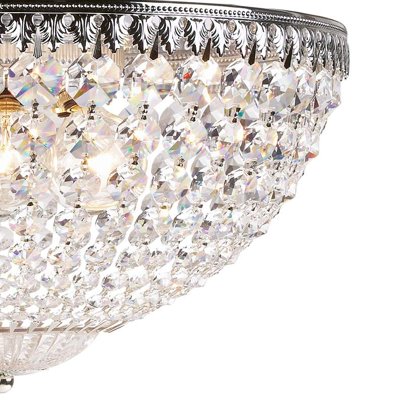 "Schonbek Silver 14"" Wide Swarovski Crystal Ceiling Light more views"