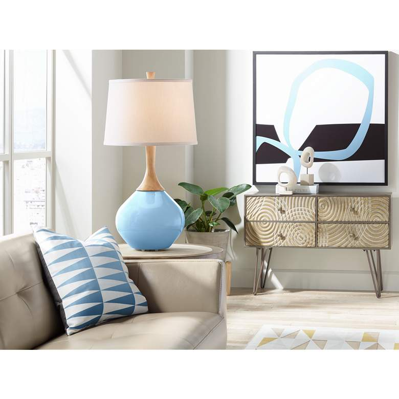 Wild Blue Yonder Wexler Modern Table Lamp from Color Plus more views