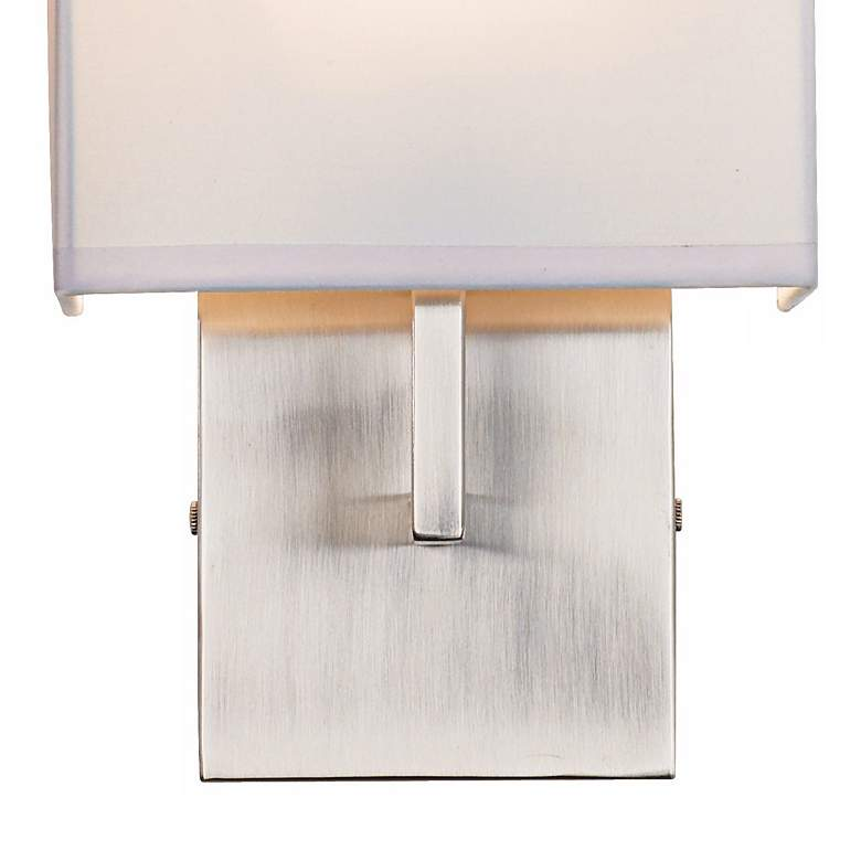 "George Kovacs Nickel 11 1/4"" High Half-Shade Wall Sconce more views"