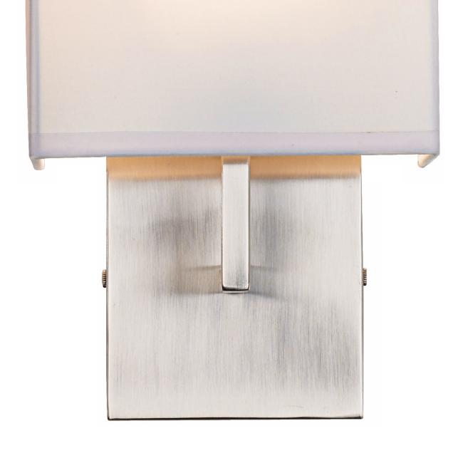 "George Kovacs Nickel 11 1/4"" High Half-Shade Wall Sconce"