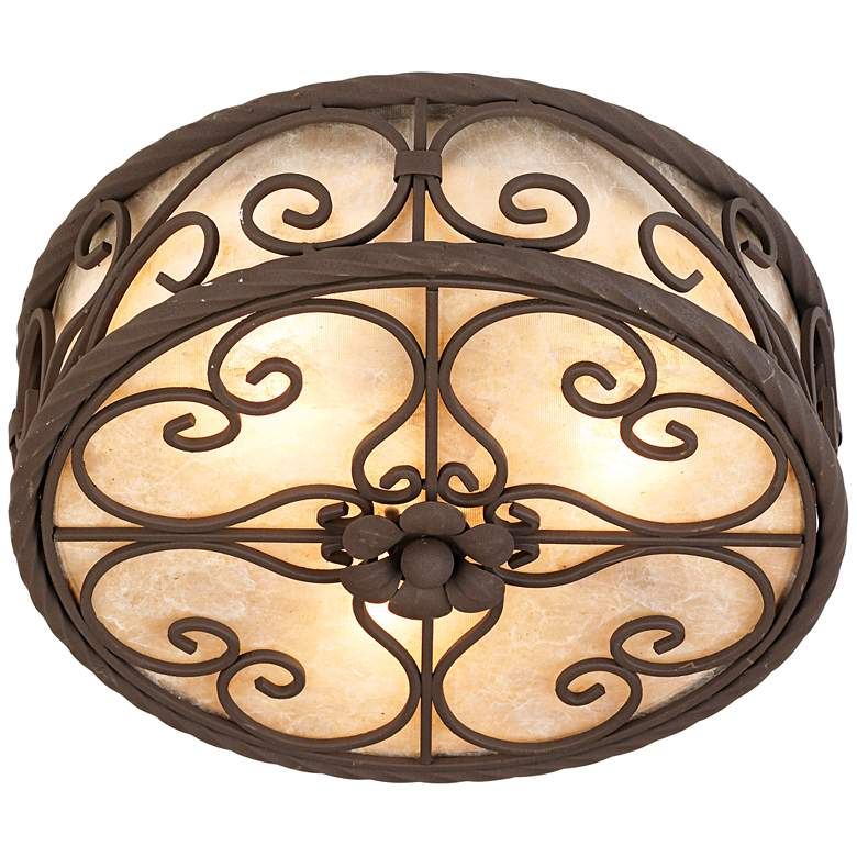 "Natural Mica Collection 12"" Wide Ceiling Light Fixture more views"