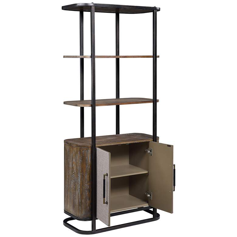 "Bradenton 32"" Wide Brown 2-Door 3-Shelf Wood Bookcase more views"