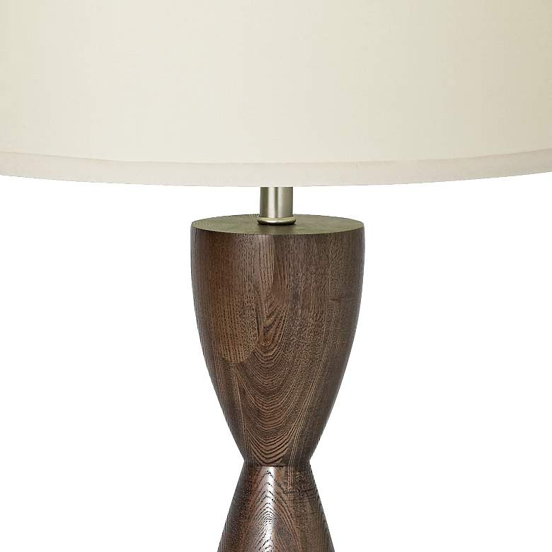 Modern Hourglass Table Lamp with Built-In 3-Prong Outlet more views