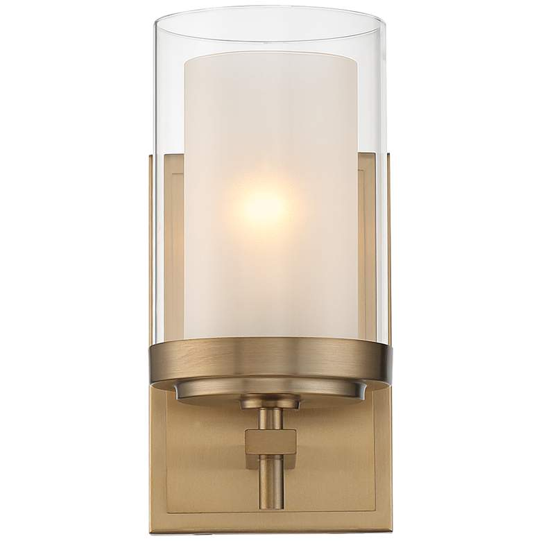 "Stiffel Sannah 10"" High Warm Brass Wall Sconce more views"