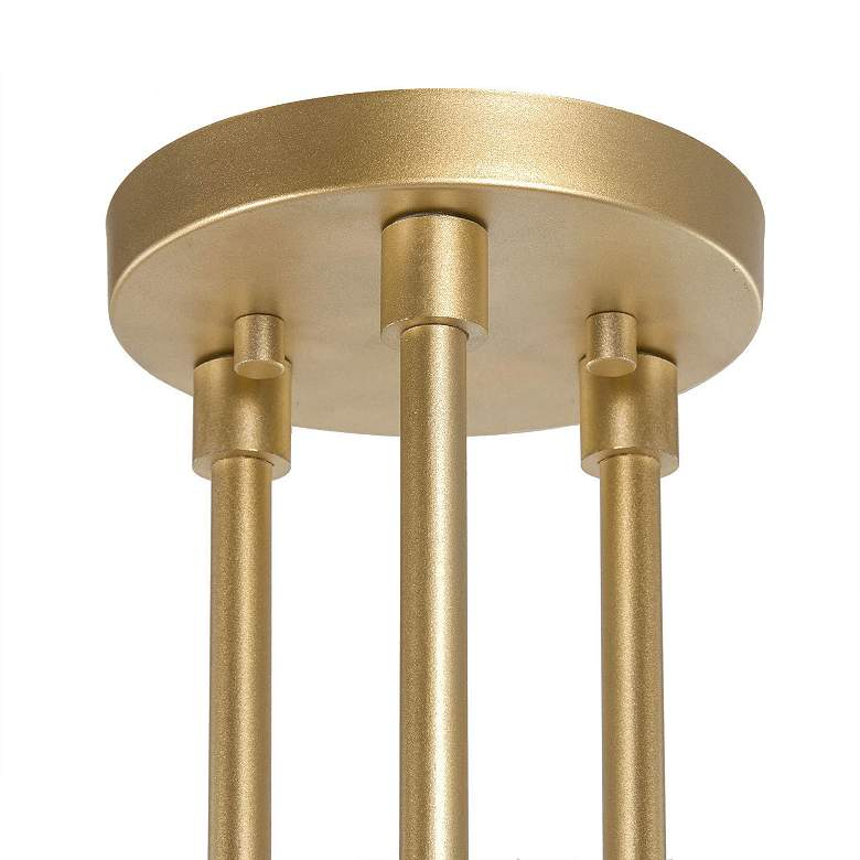 "Conley 23 1/2""W Gold Metal 3-Light Ceiling Light more views"
