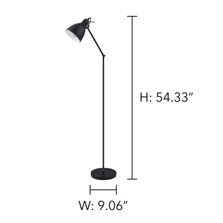 Eglo Priddy Black Metal Adjustable Floor Lamp more views