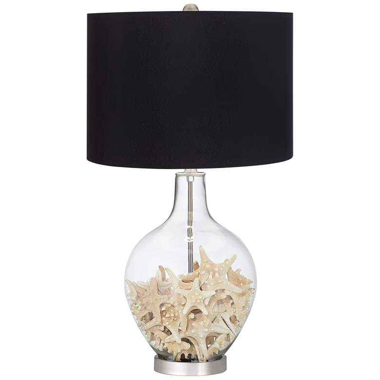 Clear Glass Fillable Ovo Table Lamp with Black Shade more views