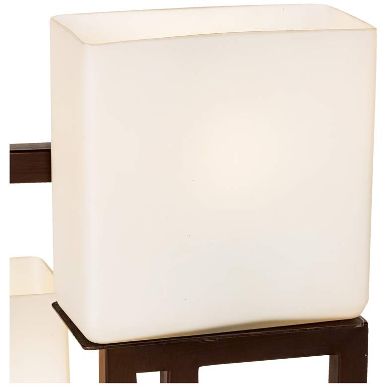 Lighting on the Square Roman Bronze Metal Accent Table Lamp more views