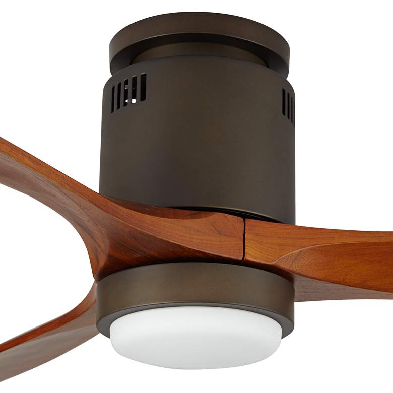 "52"" Windspun Walnut - Oil Rubbed Bronze LED DC Hugger Ceiling Fan more views"