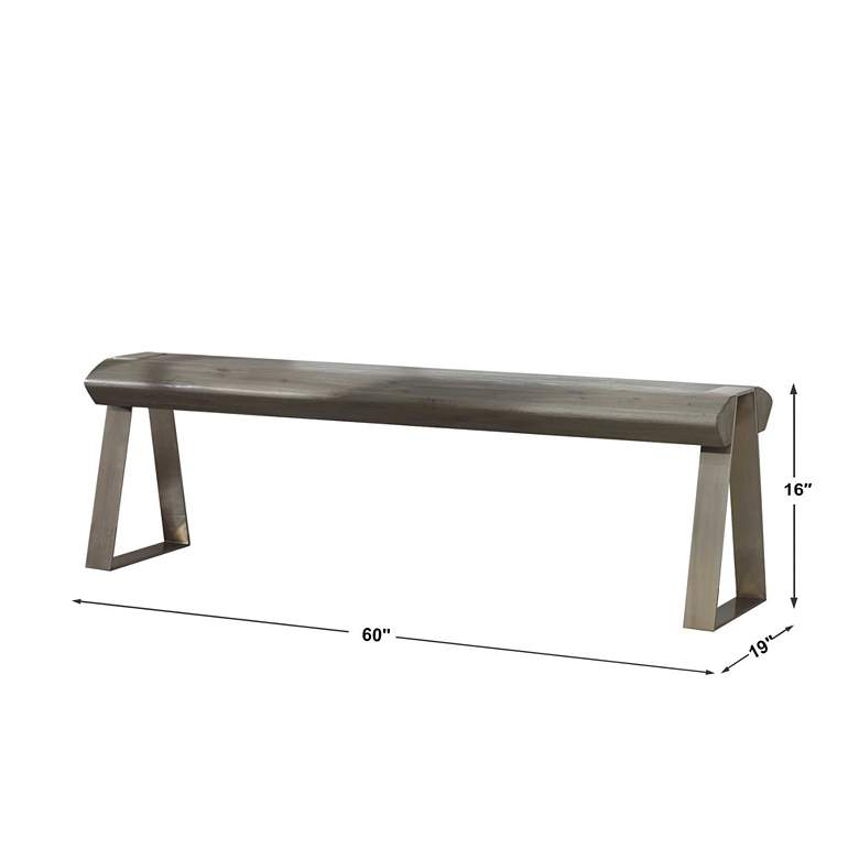 Uttermost Acai Light Gray Wash Accent Bench more views