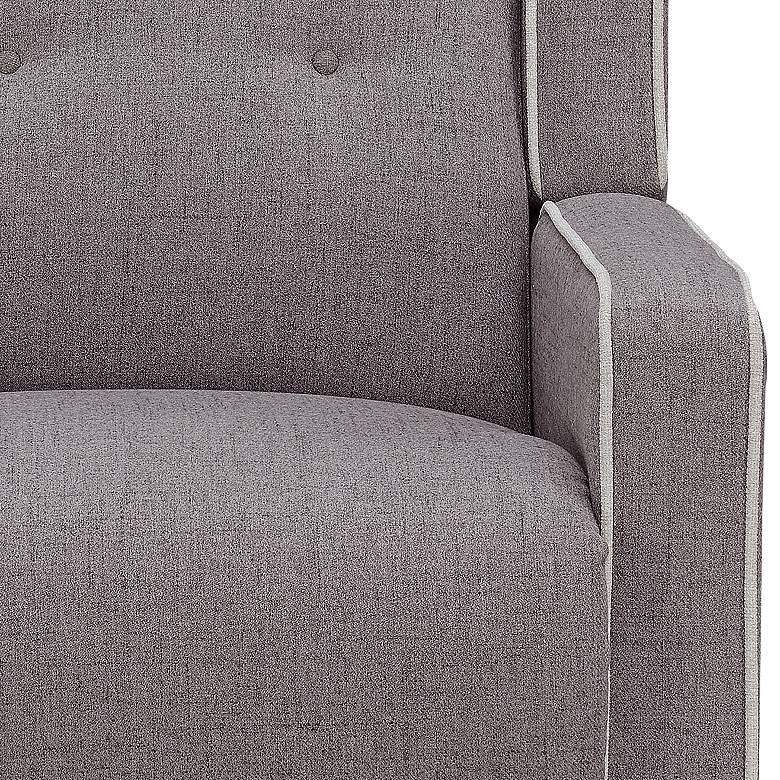 Shelter White Welted Gray Multi-Function Swivel Recliner more views