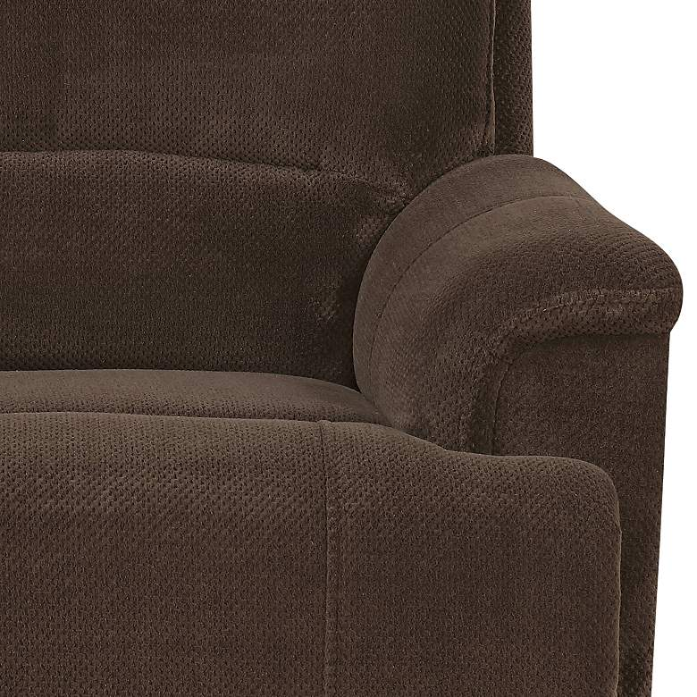Dakota Chocolate Brown Power Lift Recliner with USB Port more views
